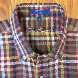 ALAN FLUSSER SOFT WASH/FLANNEL 100% COTTON BUTTON